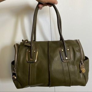 B. Makowksy Whitney Olive Green Leather Satchel
